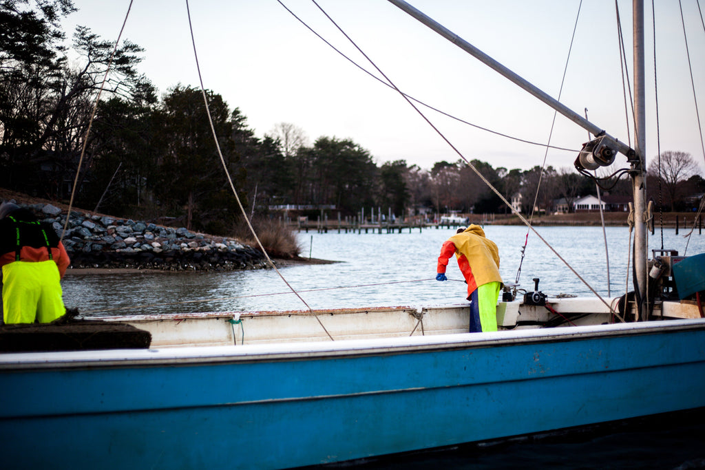National Fisherman: New oyster barge is all PVC