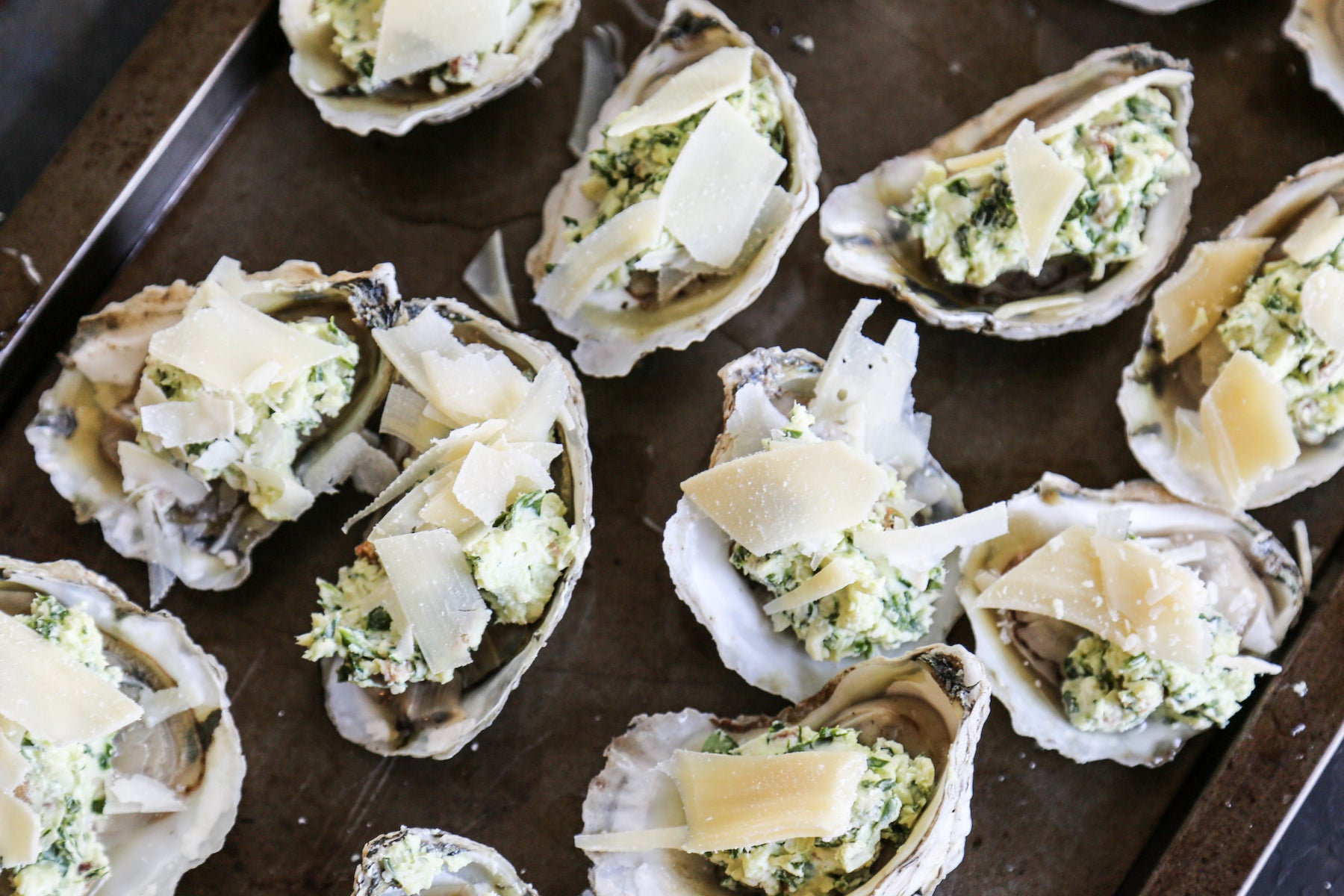 Cheesy Baked Oysters with Parmesan