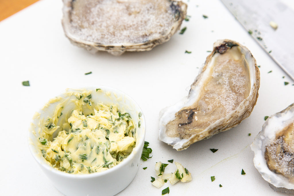 garlic herb butter compound for oysters