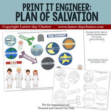 Load image into Gallery viewer, Print it Engineer: Plan of Salvation LDS Primary, Primary Teacher, Primary Lessons