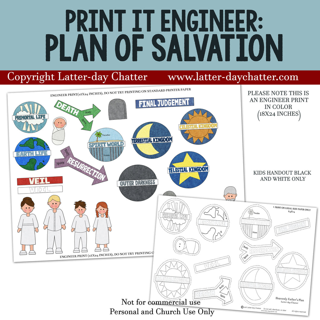 Print it Engineer: Plan of Salvation LDS Primary, Primary Teacher, Primary Lessons