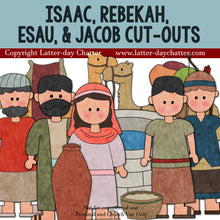 Load image into Gallery viewer, Isaac, Rebekah, Esau, & Jacob Cut-outs