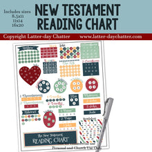 Load image into Gallery viewer, New Testament Reading Chart