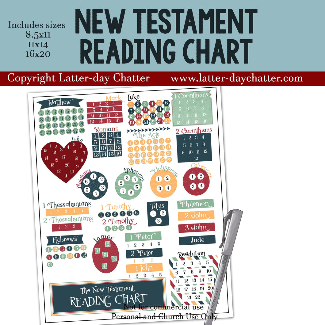 New Testament Reading Chart