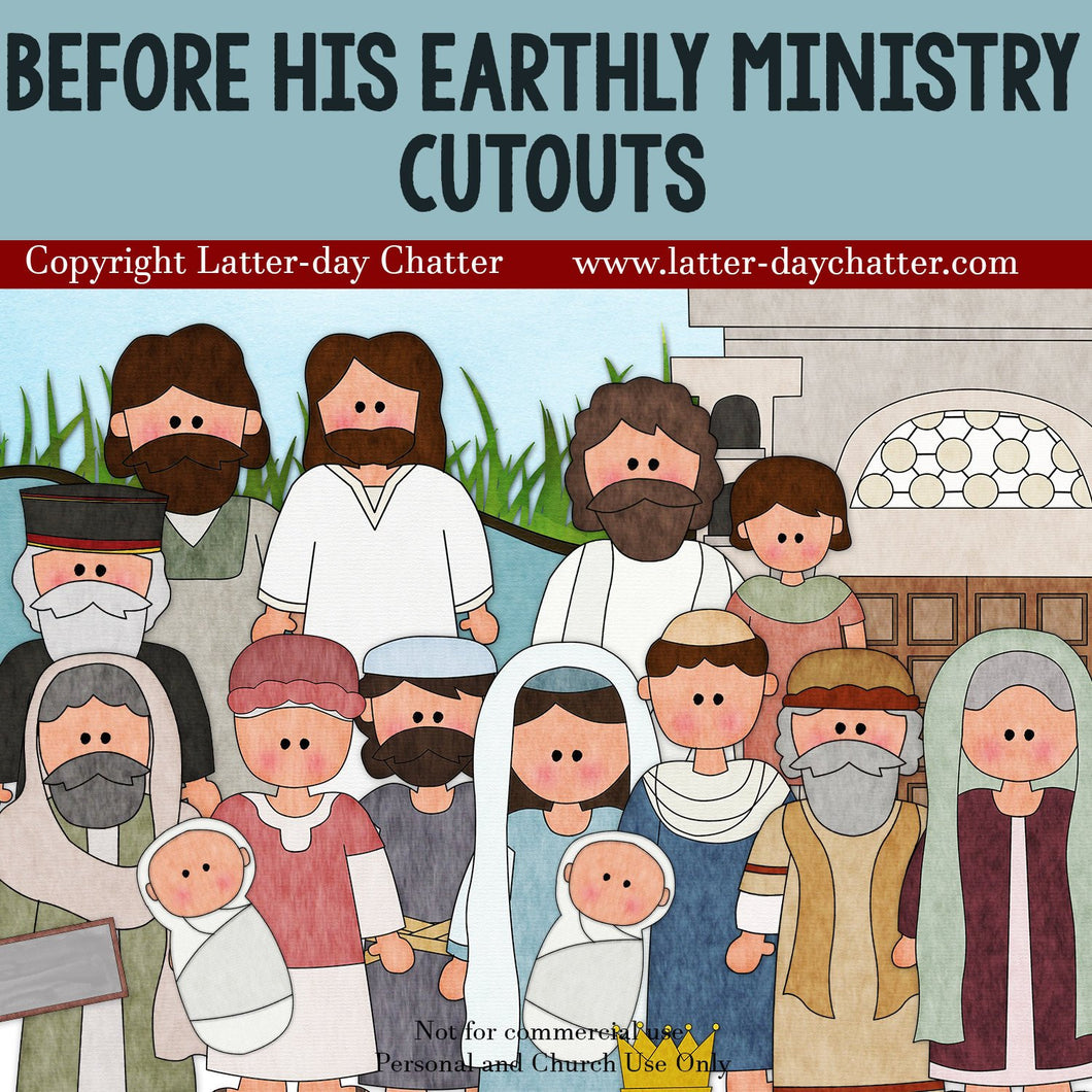 Before His Earthly Ministry Cutouts -- New Testament, Jesus Christ, Scriptures, Come Follow Me, LDS, Primary, Scripture Cut-outs