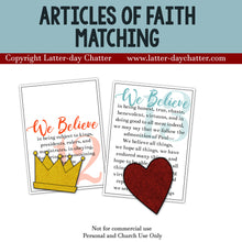 Load image into Gallery viewer, Articles of Faith Matching