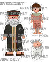 Load image into Gallery viewer, Before His Earthly Ministry Cutouts -- New Testament, Jesus Christ, Scriptures, Come Follow Me, LDS, Primary, Scripture Cut-outs