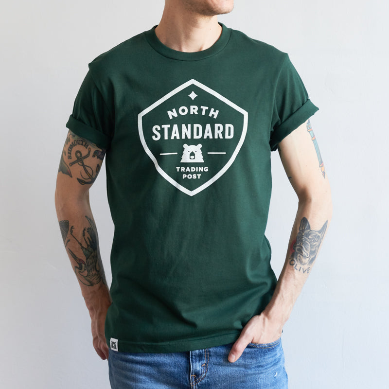 NSTP Shield Tee - Forest with White