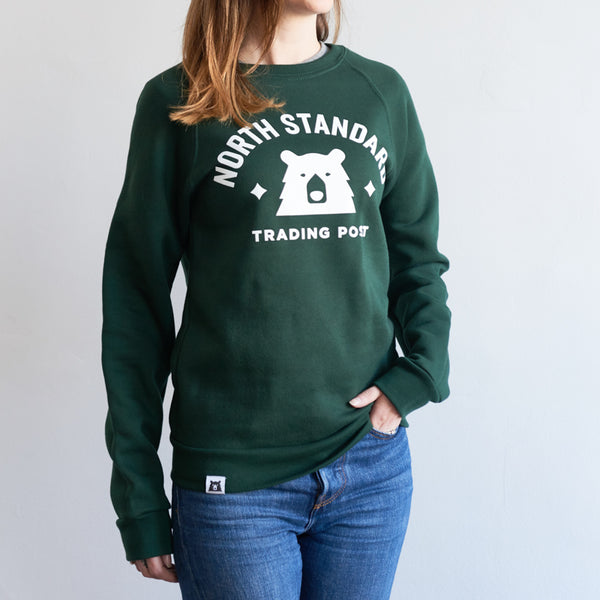 NSTP Varsity Crew Sweatshirt - Forest with White