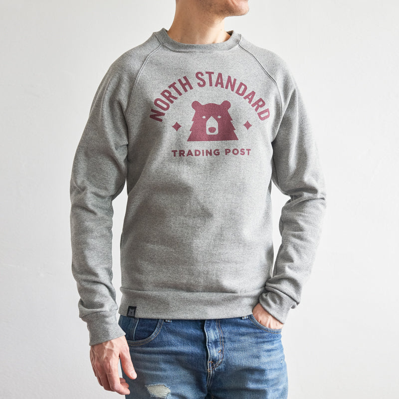 NSTP Varsity Crew Sweatshirt - Grey Marl with Maroon
