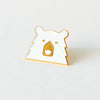 NSTP Enamel Pin - White/Gold Bear