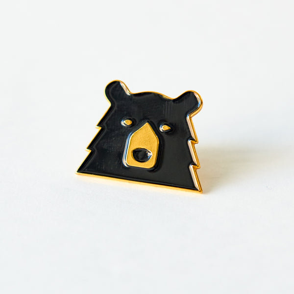 NSTP Enamel Pin - Black/Gold Bear