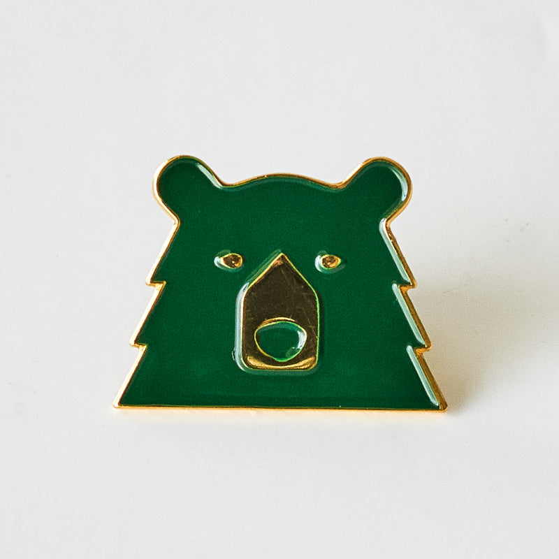 NSTP Enamel Pin - Spruce/Gold Bear