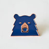 NSTP Enamel Pin - Navy/Copper Bear