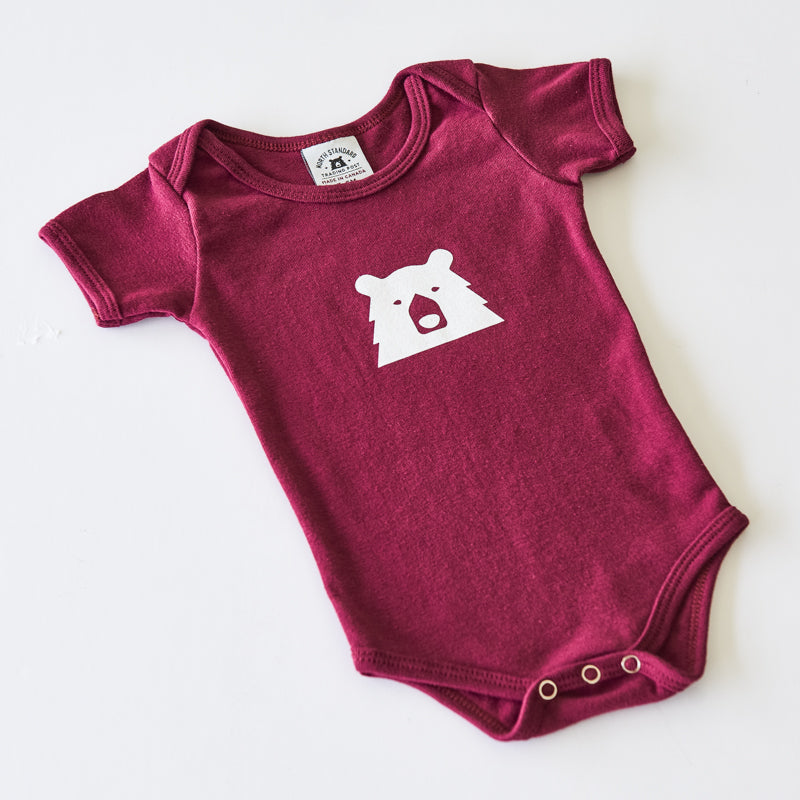 NSTP Baby Mascot Onesie - Maroon with White