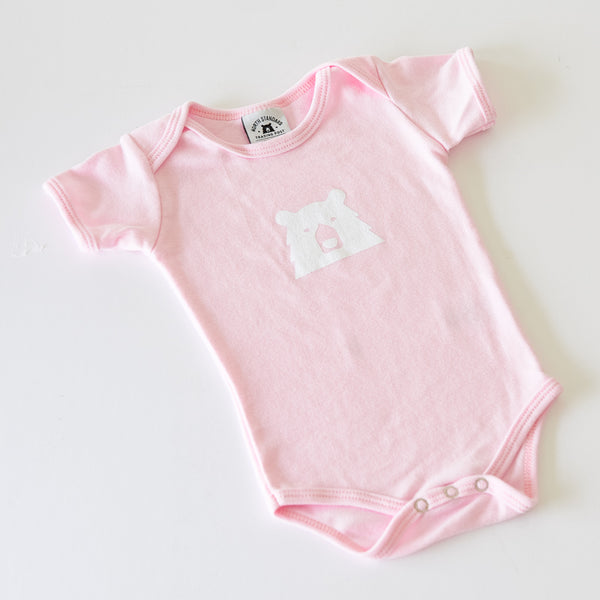 NSTP Baby Mascot Onesie - Light Pink with White