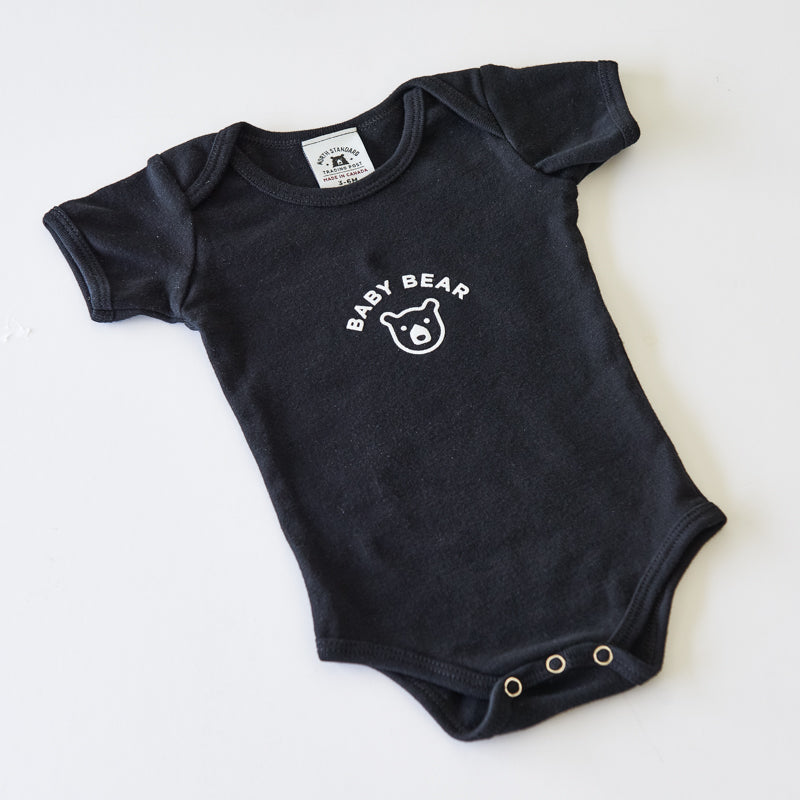 NSTP Baby Bear Onesie - Black with White