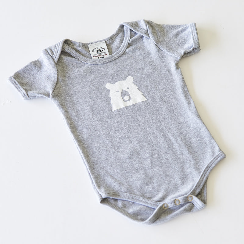 NSTP Baby Mascot Onesie - Grey Marl with White