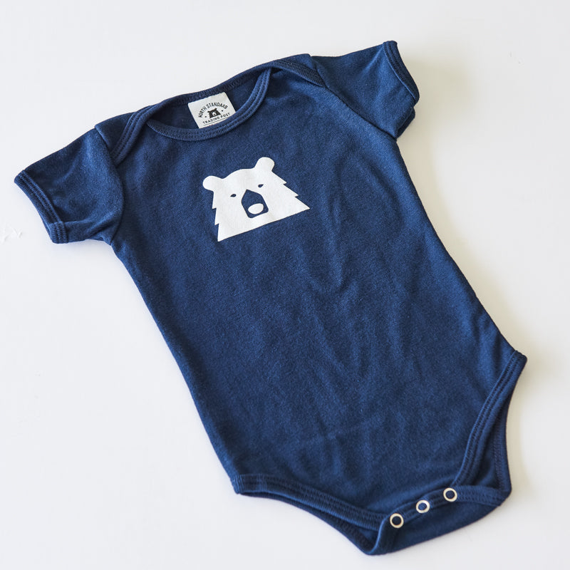 NSTP Baby Mascot Onesie - Navy with White