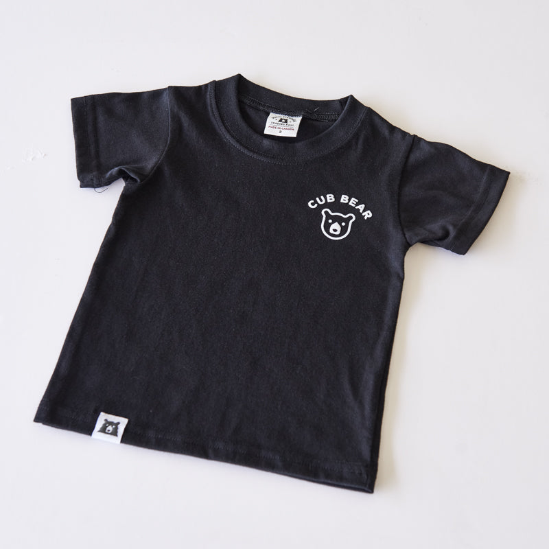 NSTP Kids Cub Bear Tee - Black with White