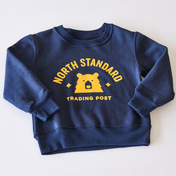 NSTP Kids Primary Crew Sweat - Navy with Golden Yellow