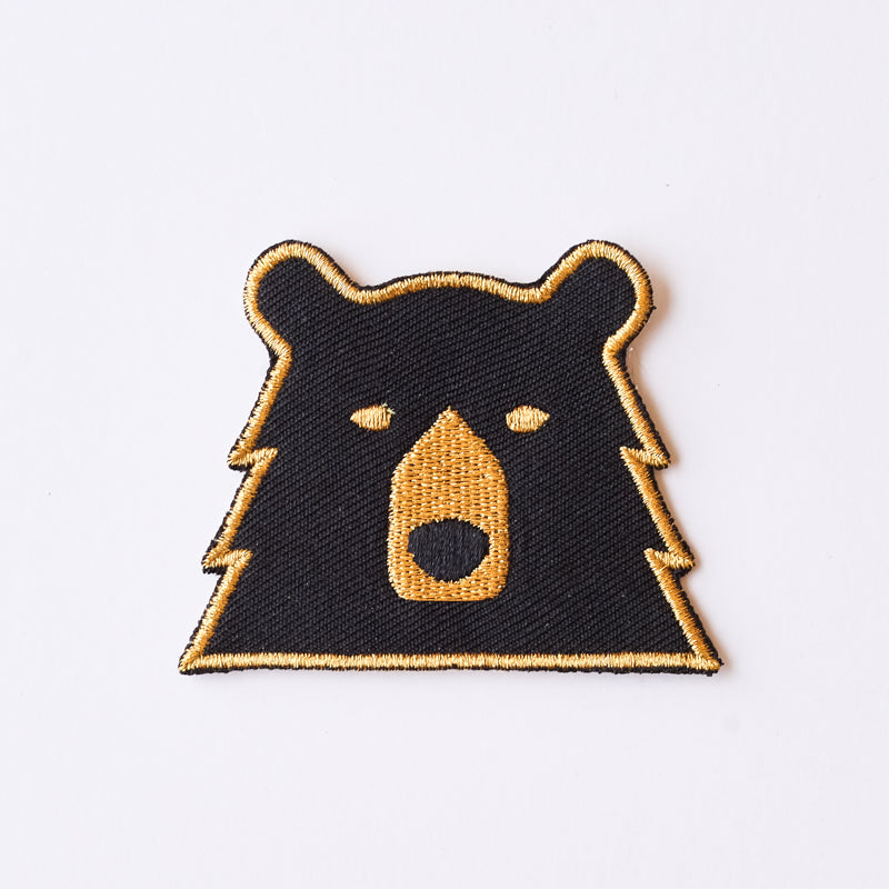 NSTP Patch - Bear - Black/Gold