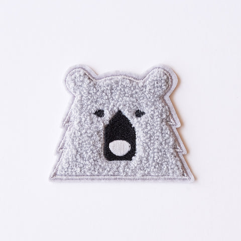 NSTP Patch - Chenille Bear - Grey