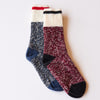 NSTP Chunky Wool Work Sock - Navy/Red