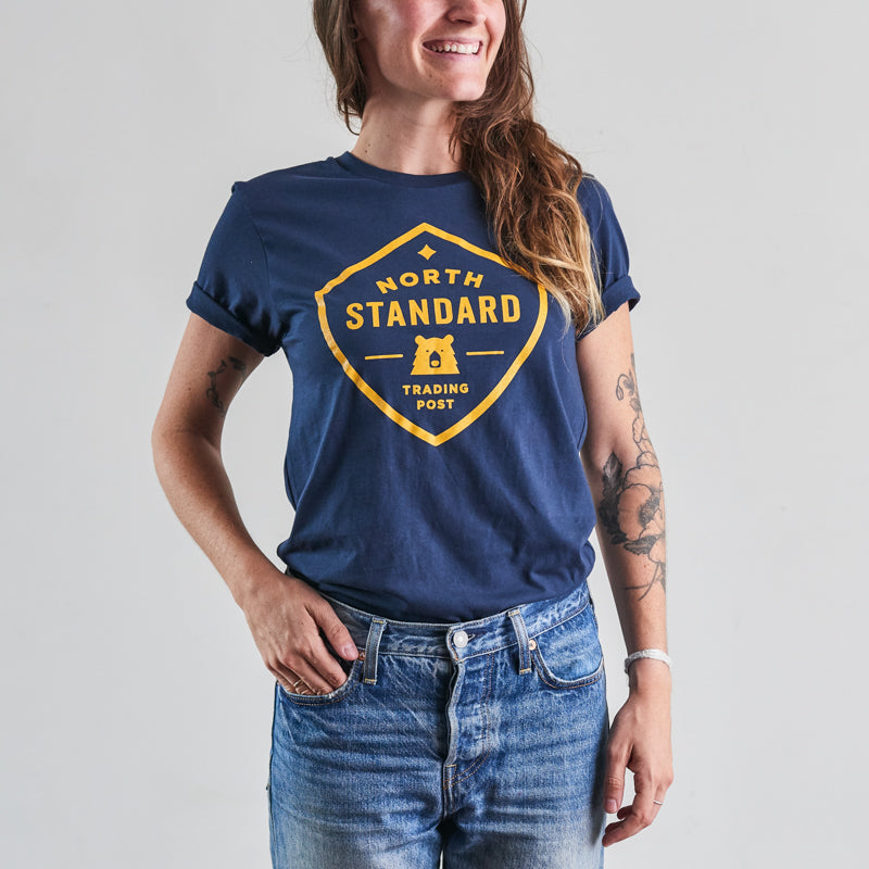 NSTP Shield Tee - Navy with Golden Yellow