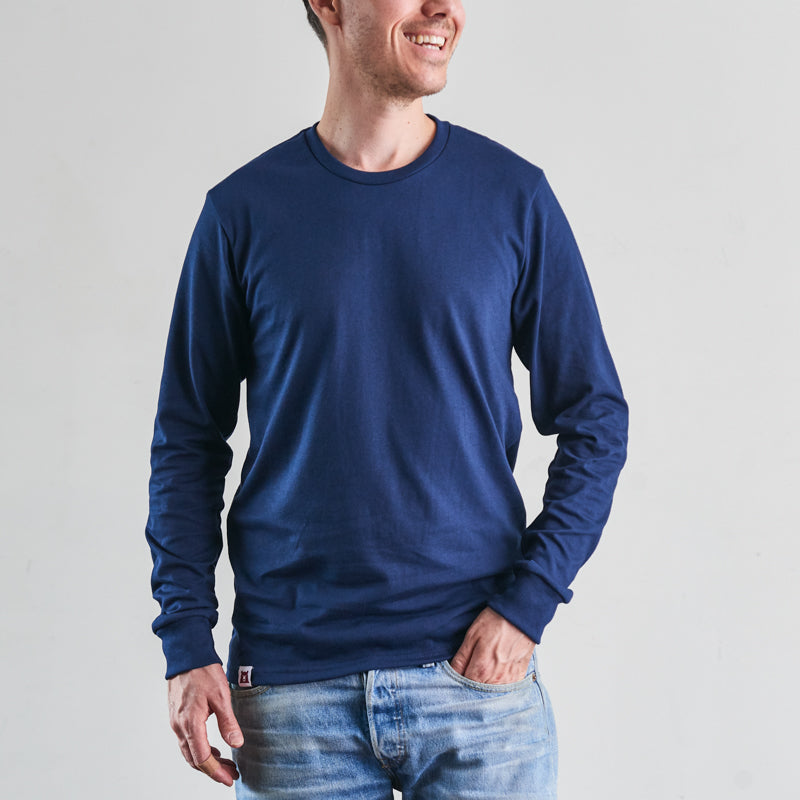 NSTP BASICS Heavyweight Long Sleeve Tee - Navy