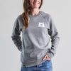 NSTP Mascot Crew Sweatshirt - Grey Marl with White