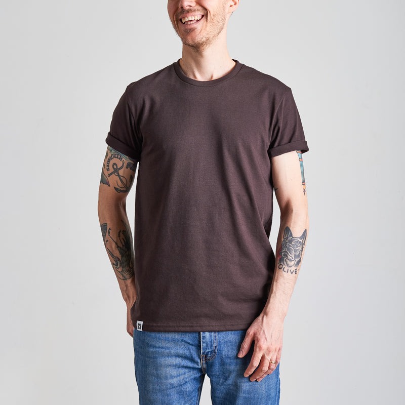 NSTP BASICS Perfect Crew Tee - Chocolate Brown