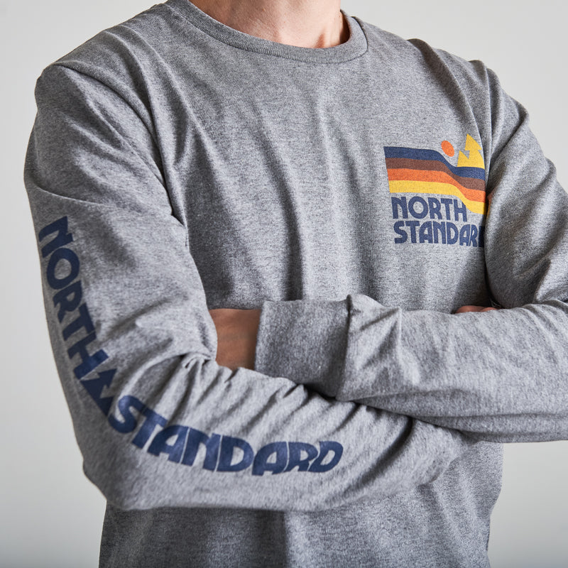 NSTP Dunes Long Sleeve Tee - Grey Marl
