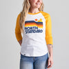 NSTP Waves Baseball Tee - White/Gold