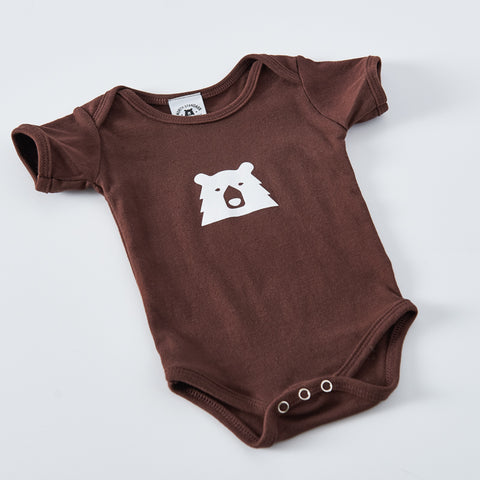 NSTP Baby Mascot Onesie - Brown with White