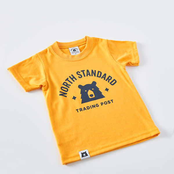 NSTP Kids Primary Tee - Golden Yellow with Navy