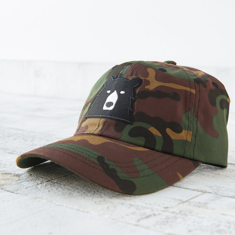 NSTP Camp Hat - Camo with Black Bear