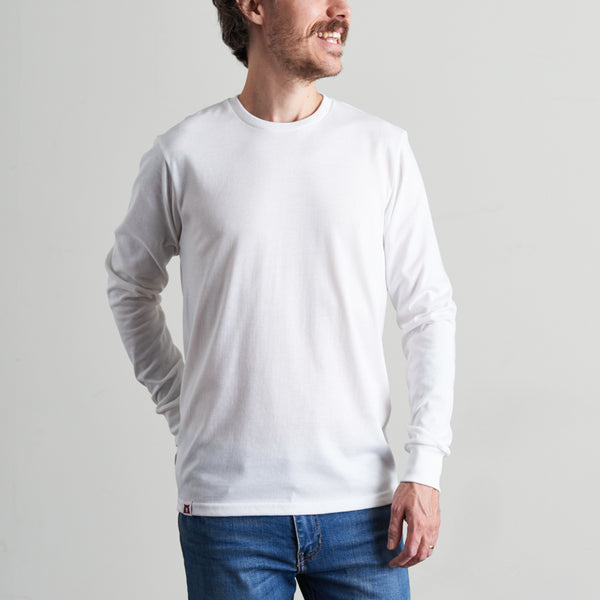 NSTP BASICS Heavyweight Long Sleeve Tee - White