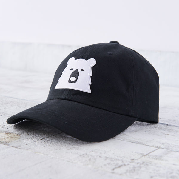 NSTP Camp Hat - Black with Polar Bear