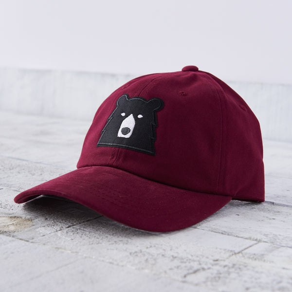NSTP Camp Hat - Maroon with Black Bear