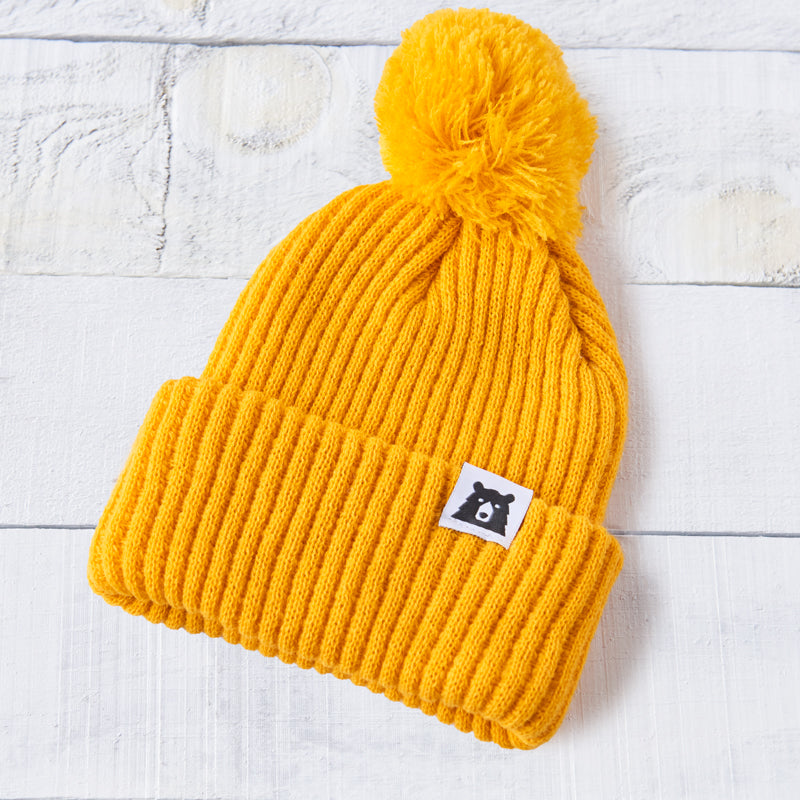 NSTP Chunky Bear Pom Toque - Golden Yellow