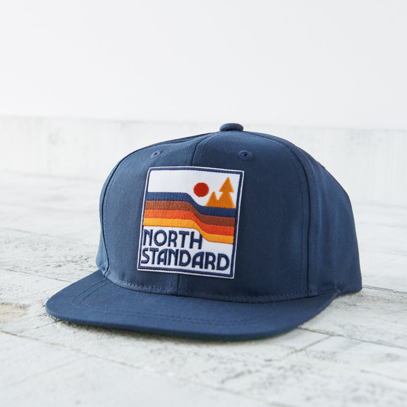 NSTP Kids Snapback - Navy with Waves