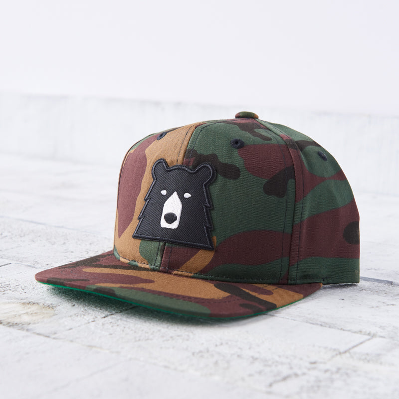 NSTP Kids Snapback - Camo with Black Bear