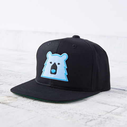 NSTP Youth Snapback - Black with Blue Bear