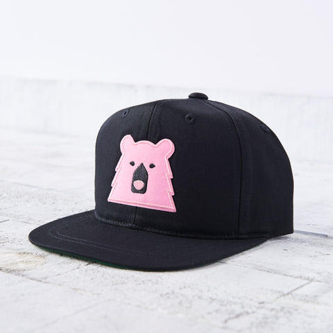 NSTP Kids Snapback - Black with Pink Bear