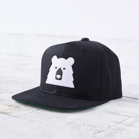 NSTP Youth Snapback - Black with Polar Bear