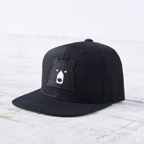 NSTP Youth Snapback - Black with Black Bear