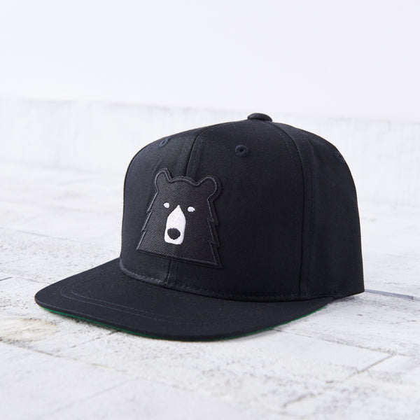 NSTP Kids Snapback - Black with Black Bear