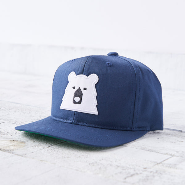 NSTP Kids Snapback - Navy with Polar Bear