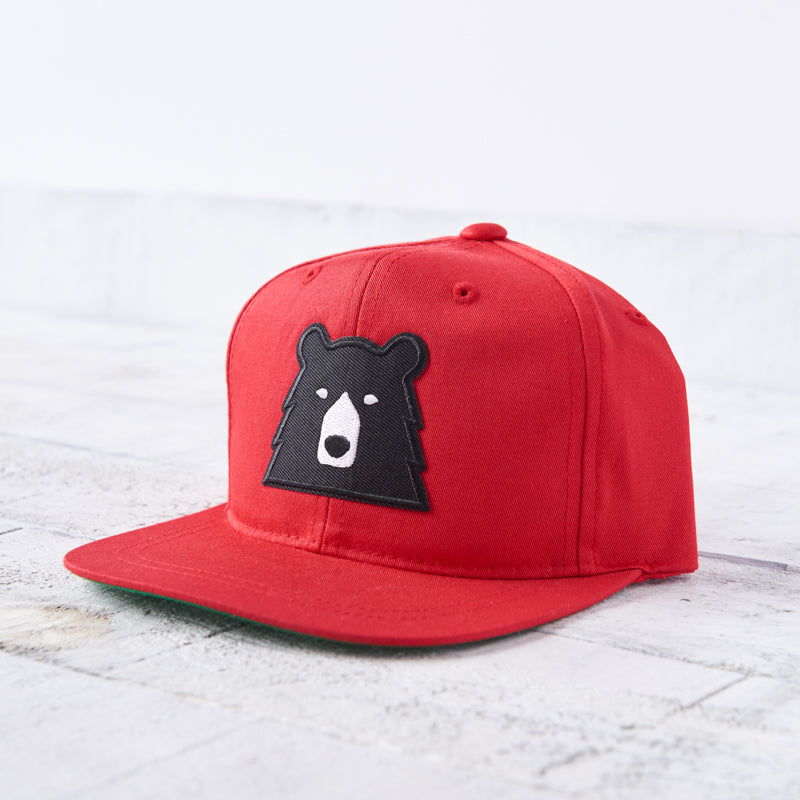 NSTP Youth Snapback - Red with Black Bear